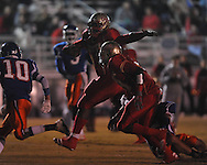 Lafayette High's Jeremy Liggins (1) runs  vs. North Pontotoc at William L. Buford Stadium in Oxford, Miss. on Thursday, October 27, 2011.. Lafayette High won 49-7..