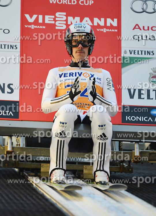 21.11.2014, Vogtland Arena, Klingenthal, GER, FIS Weltcup Ski Sprung, Klingenthal, Herren, HS 140, Qualifikation, im Bild Tom Hilde (NOR) // during the mens HS 140 qualification of FIS Ski jumping World Cup at the Vogtland Arena in Klingenthal, Germany on 2014/11/21. EXPA Pictures &copy; 2014, PhotoCredit: EXPA/ Eibner-Pressefoto/ Harzer<br /> <br /> *****ATTENTION - OUT of GER*****