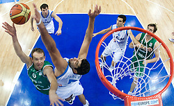Samo Udrih (6) of Slovenia vs Ioannis Bourousis of Greece during the EuroBasket 2009 3rd place match between Slovenia and Greece, on September 20, 2009, in Arena Spodek, Katowice, Poland.   (Photo by Vid Ponikvar / Sportida)