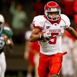 November 10, 2011; New Orleans, LA, USA; Houston Cougars running back Charles Sims (5) breaks loose for a touchdown during the second quarter against the Tulane Green Wave at the Mercedes-Benz Superdome.  Mandatory Credit: Derick E. Hingle-US PRESSWIRE