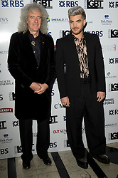 © Licensed to London News Pictures. 13/05/2016. BRIAN MAY and ADAM LAMBERT attend the British LGBT Awards 2016. London, UK. Photo credit: Ray Tang/LNP