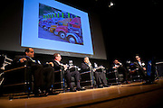 """Ethan Garber, CEO, IdleAir, offers his perspective during the panel, """"Trucks, Taxis, Rickshaws and More"""" during Manhattan Chamber of Commerce's Transportation Transformation Global Summit at NYIT in New York on April 26, 2012."""