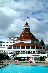 California: San Diego.  Del Coronado Hotel.  Photo #: casand104.  Photo copyright Lee Foster, 510/549-2202, lee@fostertravel.com, www.fostertravel.com