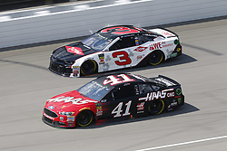 August 12, 2018 - Brooklyn, Michigan, United States of America - Kurt Busch (41) and Austin Dillon (3) battle for position during the Consumers Energy 400 at Michigan International Speedway in Brooklyn, Michigan. (Credit Image: © Chris Owens Asp Inc/ASP via ZUMA Wire)