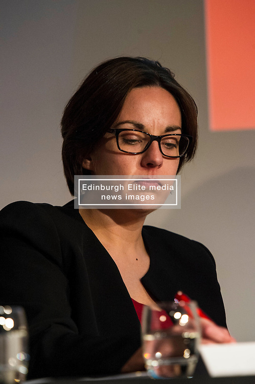 Pictured: Kezia Dugdale<br /> <br /> Party leaders Nicola Sturgeon, Kezia Dugdale, Ruth Davidson, Willie Rennie and Patrick Harvie faced questions from the public at an LGBTI election hustings event arranged by Stonewall Scotland, LGBT youth Scotland, Equaity Network and The Scottish Equality Network at the Royal College of Surgeons of Edinburgh. Edinburgh. 31 March 2016<br /> <br /> Ger Harley | Edinburghelitemedia.co.uk