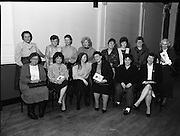 """These Obstreperous Lassies"" Book Launch.  (R93)..1988..15.12.1988..12.15.1988..15th December 1988..A book which chronicles an important aspect of Irish social history was launched in Larkin Hall. ""These Obstreperous Lassies"" written and researched by Mary Jones, details the seventy three years of the Irish Women Workers Union and of the women who were involved in the union..With Countess Markievicz as its first president, The Union began the fight for equal pay and fair treatment under the leadership of women like helen Chenevix, Louise Bennett and Helena Molloy. They fought for the rights of vulnerable workers such as Laundresses,print workers,box makers,nurses and dressmakers..The Author, Mary Jones, is a full time researcher specialising in Women and Work...Past and present members of the Women's Workers Union pose for pictures at the launch of the book ""These Obstreperous Lassies"""