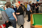 Her Royal Highness meets patients and staff in the Rec Room. The Duchess of Cornwall, Patron, Arthritis Research UK, visits and meets patients of the Adolescent Inpatient Unit at University College London Hospitals.  •	Her Royal Highness then tours a laboratory at the Arthritis Research UK Centre for Adolescent Rheumatology and meeting researchers and supporters. London 12 Feb 2015.
