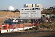 Greater Gabbard off shore windfarm on shore sub station facility, Sizewell nuclear power station, Suffolk, England