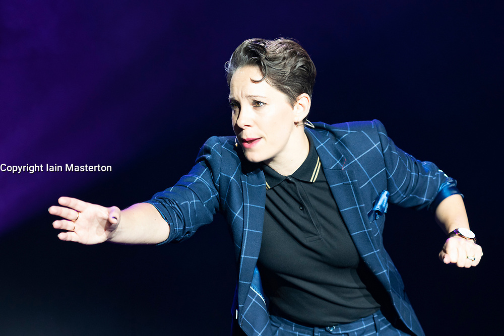 Edinburgh, Scotland, UK. 3 August 2019. The Pleasance Opening Gala launch at the Edinburgh Fringe Festival. The Pleasance venues are back for their 35th season with more than 270 shows. Pictured; MC stand up comic Suzi Ruffell. Iain Masterton/Alamy Live News