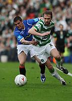 Fotball<br /> Skottland<br /> Foto: Colorsport/Digitalsport<br /> NORWAY ONLY<br /> <br /> CIS Cup Final<br /> Celtic v Rangers<br /> Hampden Park<br /> Glasgow<br /> 15.03.2009<br /> <br /> Rangers Nacho Novo and Celtics Andreas Hinkel