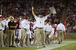 September 19, 2009; Stanford, CA, USA;  Stanford Cardinal head coach Jim Harbaugh in the second quarter of the San Jose State Spartans game at Stanford Stadium.