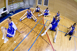 Rankica Sarenac (35), Lea Jagodic (12), Sandra Jevtovic (8) and Ana Turcinovic (5) of Merkur at 4th final match of Slovenian women basketball 1st league between Hit Kranjska Gora and ZKK Merkur Celje, on May 13, 2010, in Arena Vitranc, Kranjska Gora, Slovenia. Celje defeated Kr. Gora 71-60 and the result after 4th match is 2-2. (Photo by Vid Ponikvar / Sportida)