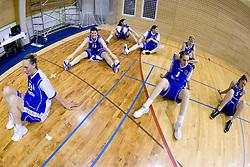 Rankica Sarenac (35), Lea Jagodic (12), Sandra Jevtovic (8) and Ana Turcinovic (5) of Merkur at 4th final match of Slovenian women basketball 1st league between Hit Kranjska Gora and ZKK Merkur Celje, on May 13, 2010, in Arena Vitranc, Kranjska Gora, Slovenia. Celje defeated Kr. Gora 71-60 and the result after 4th match is 2-2. (Photo by Vid Ponikvar / Sportida)