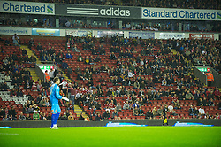 LIVERPOOL, ENGLAND - Wednesday, September 22, 2010: Liverpool's Anfield Stadium is left with thousands of empty seats  due to extortionate ticket prices, during the Football League Cup 3rd Round match against Northampton Town at Anfield. (Photo by David Rawcliffe/Propaganda)