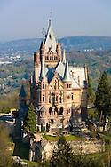 Europe, Germany, North Rhine-Westphalia, Siebengebirge, Koenigswinter, the Drachenburg castle (built 1881-84) at the Drachenfels south of Bonn.<br /> <br /> Europa, Deutschland, Nordrhein-Westfalen, Siebengebirge, Koenigswinter, die Drachenburg (1881-84) am Hang des Drachenfels suedlich von Bonn.