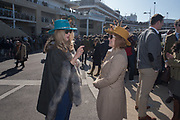 JESS ANSTEY;  ( HATMAKER) JANE HOSEY, Cheltenham races,  Ladies Day, Wednesday 15 March 2017