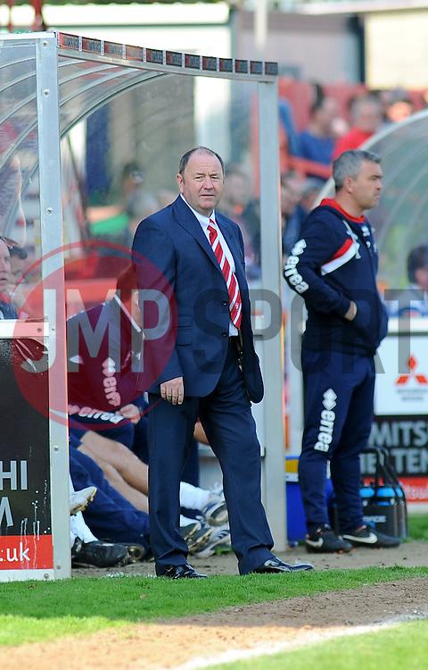 Cheltenham Town Manager, Gary Johnson. - Photo mandatory by-line: Nizaam Jones - Mobile: 07966 386802 - 06/04/2015 - SPORT - Football - Cheltenham - Whaddon Road - Cheltenham Town v Stevenage - Sky Bet League Two