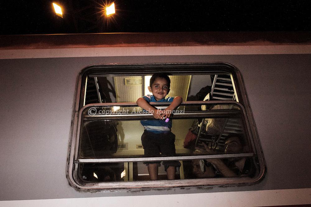 Croatia: Migrants on the train in Tovarnik (Croatia). Alessio Romenzi