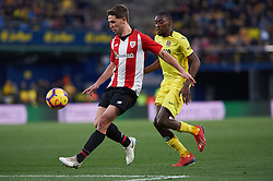 January 20, 2019 - Vila-Real, Castellon, Spain - Karl Toko Ekambi of Villarreal and Yeray Alvarez of Athletic Club de Bilbao during the La Liga Santander match between Villarreal and Athletic Club de Bilbao at La Ceramica Stadium on Jenuary 20, 2019 in Vila-real, Spain. (Credit Image: © AFP7 via ZUMA Wire)