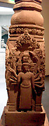 Buddhist stele. Last quarter of 10th century-early 11th century. Khleang style (late 10th-early 11th century). Sandstone sculpture from Kbal Sre Yeay Yin in Cambodia