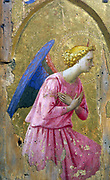 Angel in Adoration' painting on wood.  studio of Fra Angelico (born Guido di Pietro (c1400-c1455) Italian Renaissance.