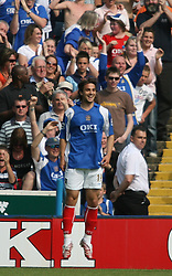 Portsmouth, England: Saturday, April 28, 2007: Portsmouth's Niko Kranjcar celebrates scoring the second Portsmouth goal against Liverpool during the Premiership match at Fratton Park (Pic by Chris Ratcliffe/Propaganda)