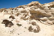 Fossilised sand dune rock structure, Los Escullos, Cabo de Gata natural park, Almeria, Spain