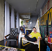 Architect Guto Requena at his Sao Paulo apartment