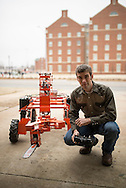 Collin Craige, CASNR phd student, is working in conjunction with Michael Buser in creating a cedar cutting robot that works in sync with a drone.