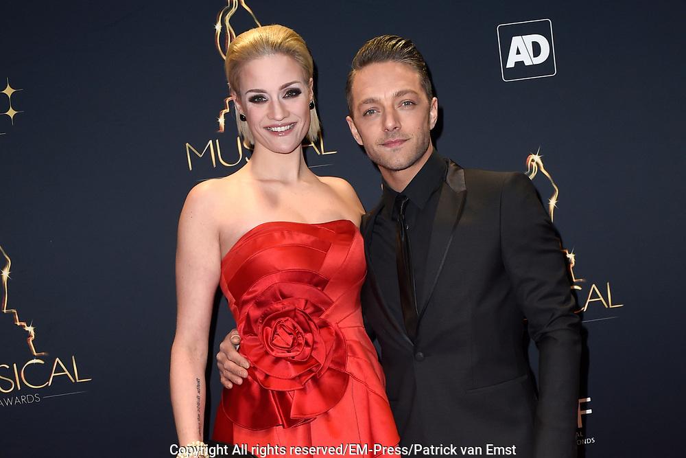 Musical Awards Gala 2016 in het Beatrix Theater Utrecht<br /> <br /> Op de foto:  Tommie Christiaan en partner Michelle Splietelhof