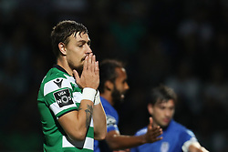 September 8, 2017 - Santa Maria Da Feira, Aveiro, Portugal - Sporting's Uruguayan defender Sebastian Coates reacts during the Premier League 2017/18 match between CD Feirense and Sporting CP, at Marcolino de Castro Stadium in Santa Maria da Feira on September 8, 2017. (Credit Image: © Dpi/NurPhoto via ZUMA Press)