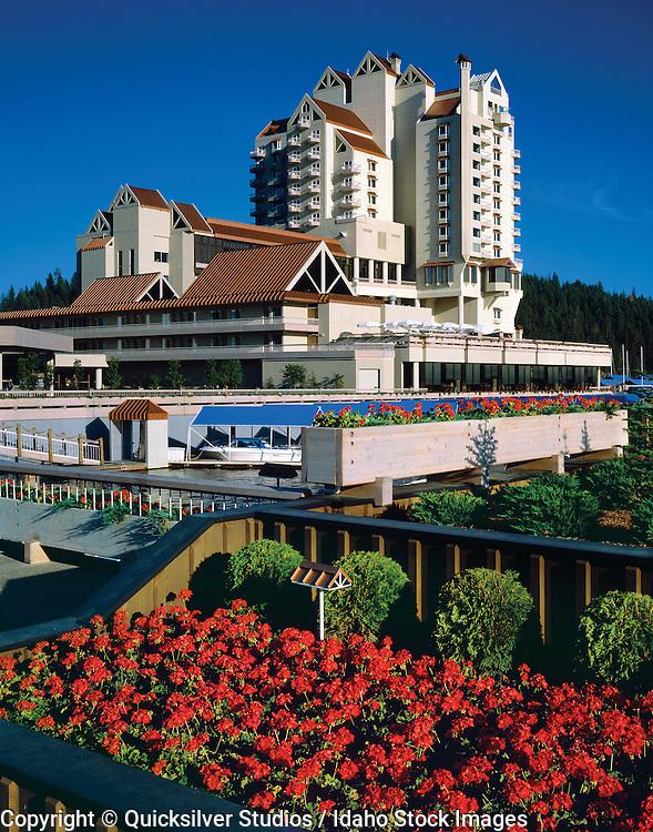 Idaho,  Coeur dAlene Resort, Geraniums