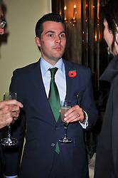 LORD REGINALD VANE-TEMPEST-STEWART at a party to celebrate the publiction of 'No Invitation Required' by Annabel Goldsmith, held at Claridge's, Brook Street, London on 11th November 2009.