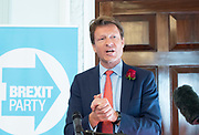 Brexit Party launch event<br /> Nigel Farage and Richard Tice, party chairman launch the next tranche of Brexit Party candidates at an event in London, Great Britain <br /> House Terrace<br /> 23rd April 2019<br /> <br /> New candidates standing for the Brexit Party in the European Parliament Elections in May 2019 <br /> <br /> Richard Tice <br /> <br /> <br /> Photograph by Elliott Franks