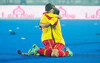 LUCKNOW (India) -   Junior World Cup hockey  U21 for men .  Spain v New Zealand (3-3) . Spain celebrate the draw.  .COPYRIGHT  KOEN SUYK