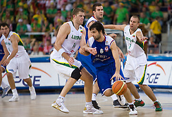 during the EuroBasket 2009 Group F match between Serbia and Lithuania, on September 16, 2009 in Arena Lodz, Hala Sportowa, Lodz, Poland.  (Photo by Vid Ponikvar / Sportida)