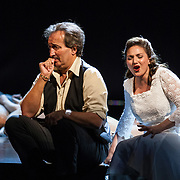 Edinburgh International Festival (EIF). Don Giovanni (Opera) by Wolfgang Amadeus Mozart. Conducted by Iv&agrave;n Fischer. Matteo Peirone as Masetto and Sylvia Schwartz as Zerlina. Festival Theatre, Edinburgh.  08 Aug 2017. Edinburgh. Credit: Photo by Tina Norris. Copyright photograph by Tina Norris. Not to be archived and reproduced without prior permission and payment. Contact Tina on 07775 593 830 info@tinanorris.co.uk  <br />