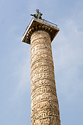Italy, Rome, Piazza Colonna, Low angle view of the Column of Marcus Aurelius