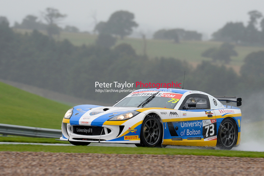 Nathan Freke (GBR) / Anna Walewska (GBR)  #73 Century Motorsport  Ginetta G55 GT4  Ford Cyclone 3.7L V6. British GT Championship at Donington Park, Melbourne, Leicestershire, United Kingdom. September 10 2016. World Copyright Peter Taylor/PSP.
