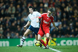 PRESTON, ENGLAND - Saturday, January 3, 2009: Liverpool's Robbie Keane and Preston North End's Billy Jones during the FA Cup 3rd Round match at Deepdale. (Photo by David Rawcliffe/Propaganda)