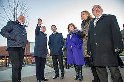 Pictured: Sir Tom Hunter;  John Hamilton, Winchburgh Development Ltd, David Dodds, West Lothian Council; Derek Mackay    Fiona Hyslop; Eileen Cook, Deputy Chief Executive West Lothian Council and  David Dodds West Lothian Council<br /> <br /> Finance Secretary Derek Mackay headed to Winchburgh today to meet developers of new 3,450-home village. As well as the new homes, schools and other associated infrastructure will be built at Winchburgh. Derek Mackay met Sir Tom Hunter and Local MSP, Fiona Hyslop, the developers and West Lothian Council officials.<br /> <br /> Ger Harley | EEm 17 January 2019