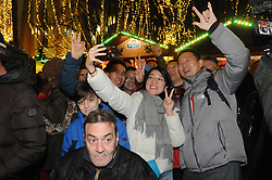 Germany, Freiburg - November 22, 2018.Freiburg's MayorMartin Horn, opens the Christmas market at Rathaus Platz in Freiburg. It is one of the first big Christmas markets to open in Germany this year.Chinese tourists  (Credit Image: © Antonio Pisacreta/Ropi via ZUMA Press)