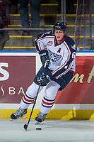 KELOWNA, CANADA - OCTOBER 27: Juuso Välimäki #6 of the Tri-City Americans warms up with the puck against the Kelowna Rockets on October 27, 2017 at Prospera Place in Kelowna, British Columbia, Canada.  (Photo by Marissa Baecker/Shoot the Breeze)  *** Local Caption ***