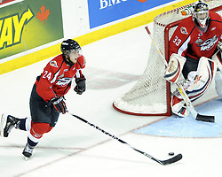 Cam Fowler of the Windsor Spitfires in Game 3 of the Rogers OHL Championship Series in Windsor on Sunday May 2. Photo by Aaron Bell/OHL Images