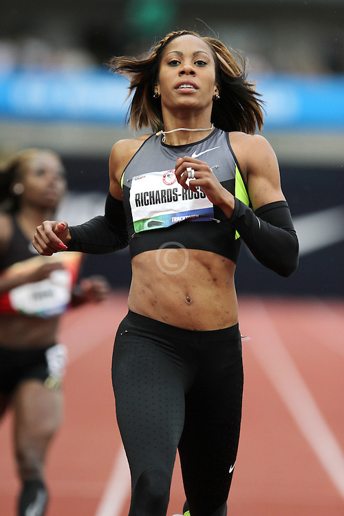 Olympic Trials Eugene 2012: Sanya Richards-Ross wins 200 meter heat
