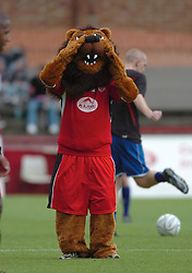 KEVIN MEIKLE AND MASCOT  KETTERING TOWN, Kettering Town v Football Club Utd of Manchester, Rockingham Road, 19th July 2008