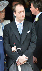 Right, Nicholas Knatchbull at the wedding of the Hon.Alexandra Knatchbull to Thomas Hooper held at Romsey Abbey, Romsey, Hampshire on 25th June 2016