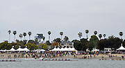 San Diego, California. USA,   2013 San Diego Crew Classic, Mission Bay.  Men's Club, City of San Diego Think Blue Cup, crews race past the Spectators, at the Beach. 12:16:28   Sunday  07/04/2013  [Mandatory Credit. Karon Phillips/Intersport Images]..