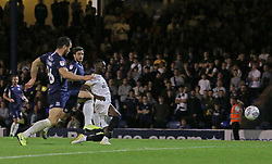 Mohamed Eisa of Peterborough United scores the opening goal against Southend United - Mandatory by-line: Joe Dent/JMP - 20/08/2019 - FOOTBALL - Roots Hall - Southend-on-Sea, England - Southend United v Peterborough United - Sky Bet League One