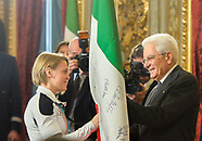 Ceremony of return of the Italian flag by Olympic athletes - 27 March 2018